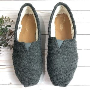 Toms Classic Knit Gray Slip On Shoes